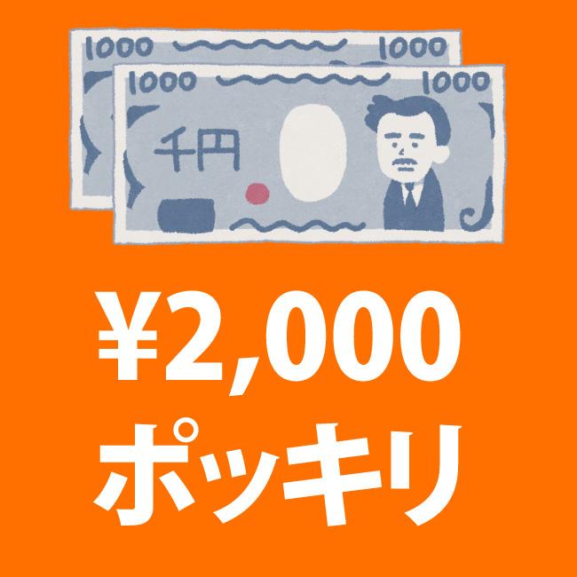 2000円ポッキリセール