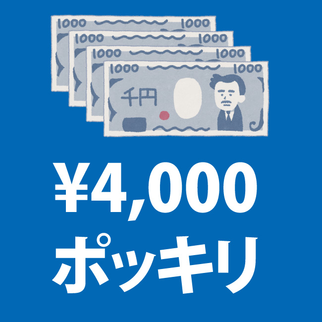 4000円ポッキリセール